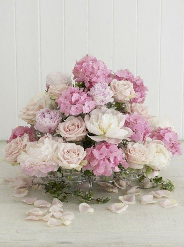 douceur de cette composition florale