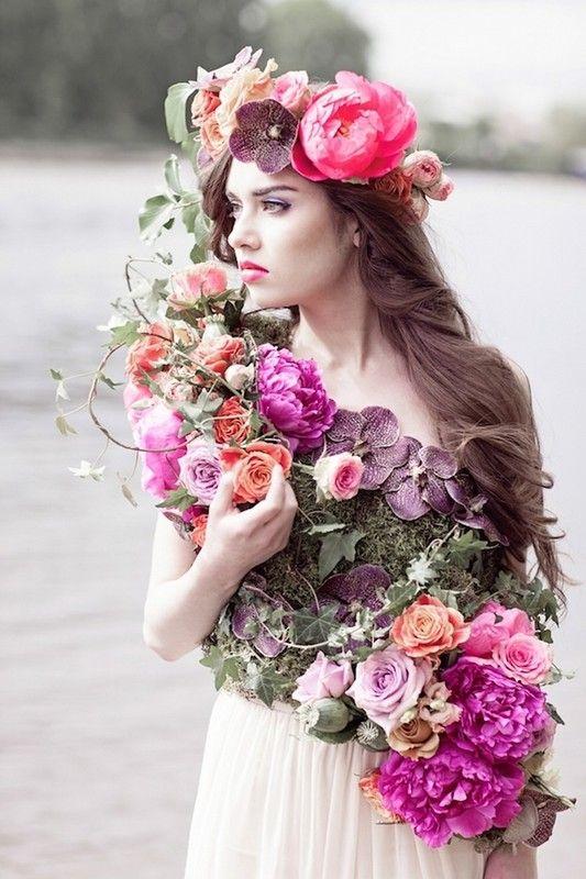 belle femme florale