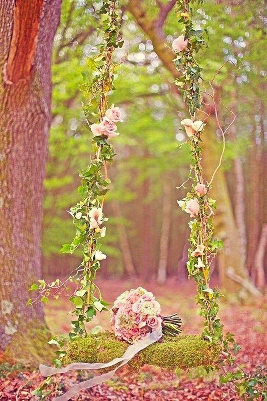 Фото в лесу на качелях 26 фотография