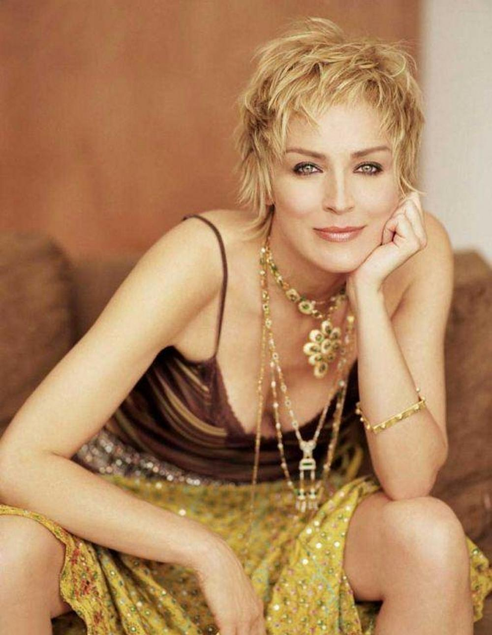 Actrices for Coupe de cheveux sharon stone 2012